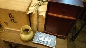 桐箱 陶器